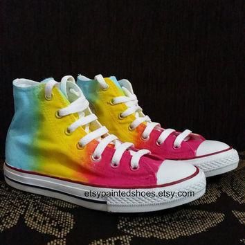rainbow converse shoes