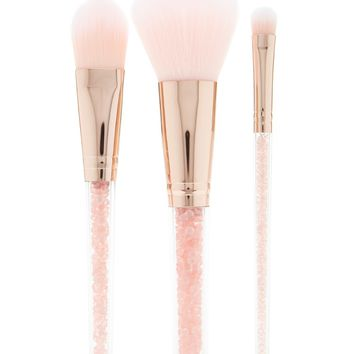 Faux Gem Cosmetic Brush Set