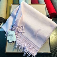 Perfect YSL Yves Saint Laurent Women Wool Scarf Shawl Scarf