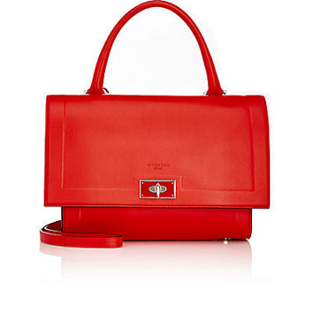 GIVENCHY Small Shark bag in red textured-leather