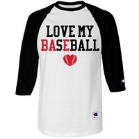 Love My Bae Baseball Girlfriend Raglan Jersey at Customized Girl