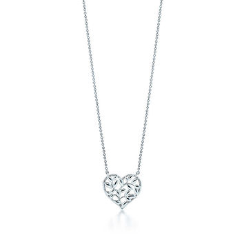 Tiffany Heart Olive Branch Necklace