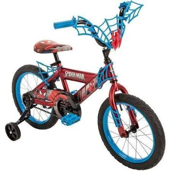 Huffy Marvel Spider-Man 16 Bike W Webtrap Handlebar Plaque