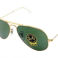 Ray Ban RB3025 3025 W3234 Arista/Gold RayBan G-15 Aviator Sunglasses 55mm