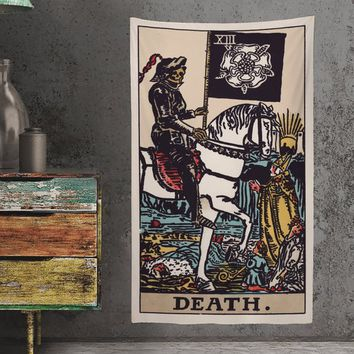The Death Tarot Card Tapestry - Full Card Tapestry - Rider Waite Deck Tapestry