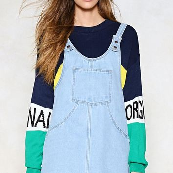 Day Tripper Denim Pinafore Dress
