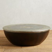 Embossed Meridian Coffee Table by Anthropologie in Brown Size: