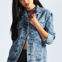 Lydia Blue Acid Wash Denim Jacket