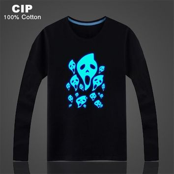 Ghost Shadow Light Autumn New Kids Boys Girls Cartoon T-shirts Long Sleeve Children Boy Girl Pullover Top Shirts  ShirtKawaii Pokemon go  AT_89_9
