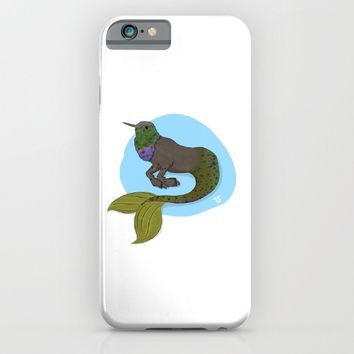 Humming Hypocampus iPhone & iPod Case by Justhappiling