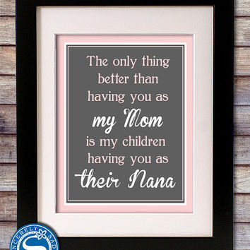Grandparent 8x10 Print for Grandma, Nana, Grandmother - Mothers Day Sign, Grandparents Day, Mom Birthday Gift