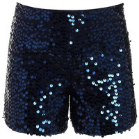 Lana Sequin Short | Navy | Monsoon