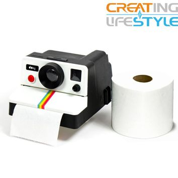 Free shipping 1 Piece Retro Polaroid Camera Shape Inspired Toilet Roll Box / Toilet Paper Holder
