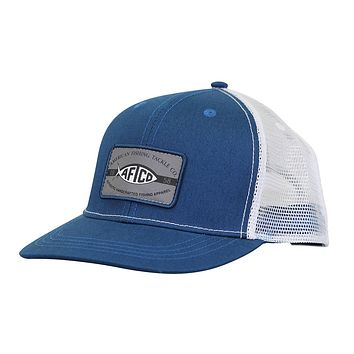 Patch Trucker Hat in Blue Steel by AFTCO