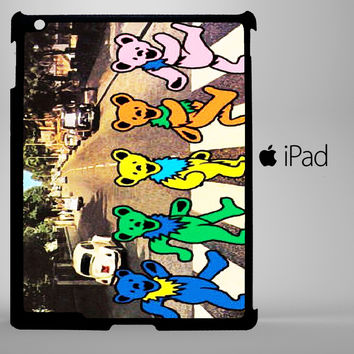 Grateful Dead Bear The Beatle A0261 iPad 2, iPad 3, iPad 4, iPad Mini and iPad Air Cases - iPad