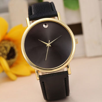 Reloj Womens Retro Leather Band Analog Quartz Wristwatch