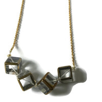 Clear-Minded Beaded Statement Necklace