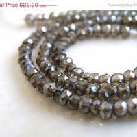 51% Off Mystic Quartz Gemstone Smoky Chocolate Brown Rondelle Faceted 3mm Full Strand 160 beads