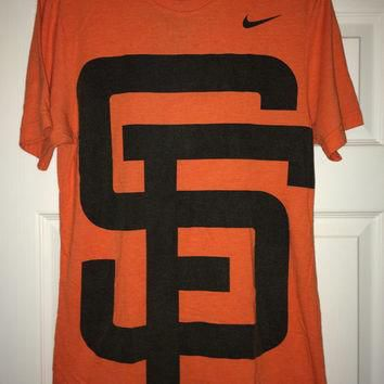 Sale!! Vintage Nike SF San Francisco GIANTS big logo casual Tee Baseball T shirts MLB