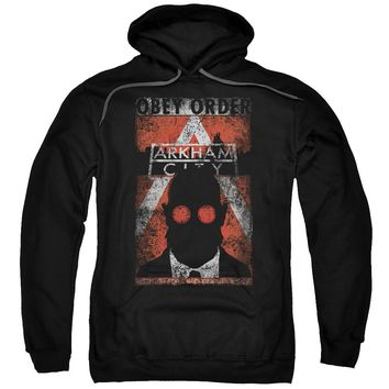 Arkham City - Obey Order Poster Adult Pull Over Hoodie Officially Licensed Apparel
