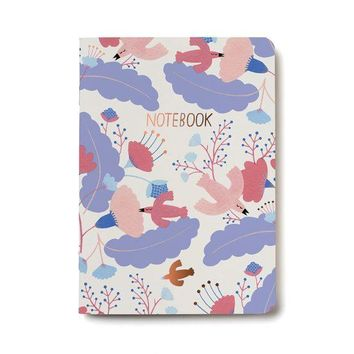 RED CAP CARDS CANDY BIRDS NOTEBOOK