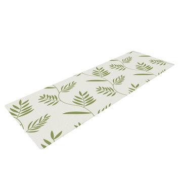 "Snap Studio ""Ferngully"" Green White Yoga Mat"