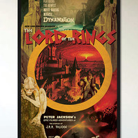 Lord of the Rings - 1950's - 1960's Retro Alternative Movie Poster