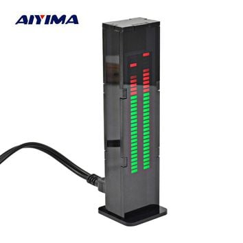 Aiyima AS30 LED Music Audio Spectrum indicator Amplifier Board SCM Stereo Level indicator VU Meter Speed Adjustable With Case