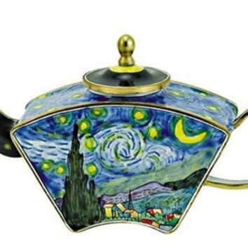 Van Gogh Starry Night Miniature Porcelain Teapot - TAL817