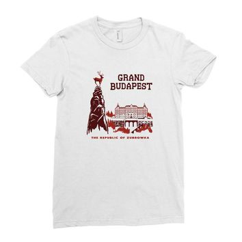 grand budapest hotel Ladies Fitted T-Shirt