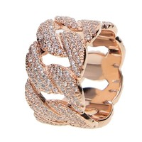 Chain Style Diamond Encrusted Ring
