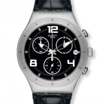 Swatch Irony Black Casual Mens Chronograph Quartz Watch YCS569