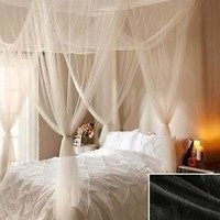 Elegant Black Sheer Decorative Hanging Bed Canopy Romantic Bedroom Home Decor