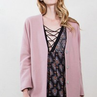 Mauve Collarless Jacket*