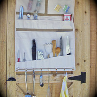 Wall Tent Camp Kitchen, Cookware Organizer, Hunting Camp Gear, Canvas Tent Shelf, Outfitter's Friend, Kitchen Caddy, Canvas Utensil Roll