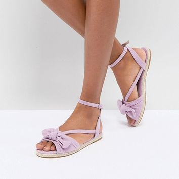 ASOS JAYE Bow Espadrille Sandals at asos.com
