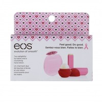 eos - eos Lip Balm & Hand Lotion 3-Pack Breast Cancer Awareness Collection