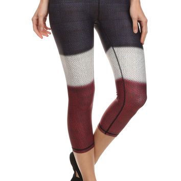 Color Block Dream Capris - Burgundy