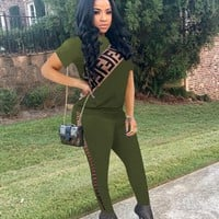 Green FENDI Top and Pants