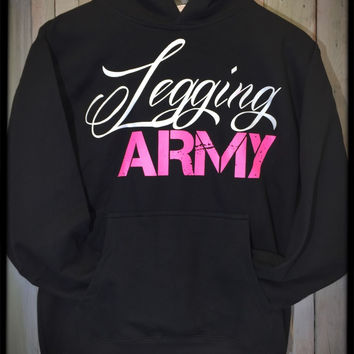 Legging Army Official Sweatshirt- Black