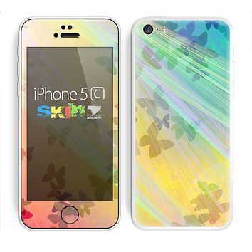 The Abstract Color Butterfly Shadows Skin for the Apple iPhone 5c
