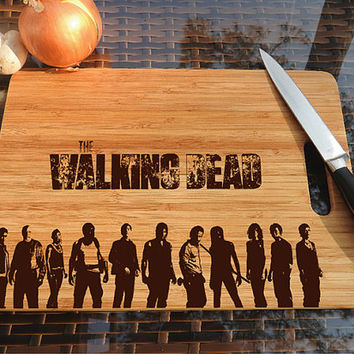 kikb559 Personalized Cutting Board series walking dead fan gift design board