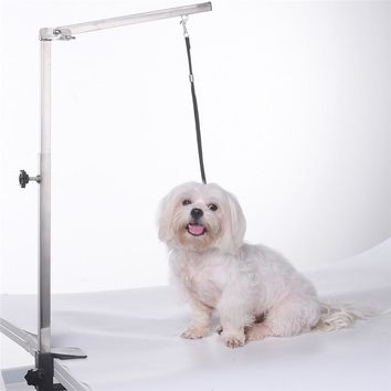 Foldable Pet Cat Dog Grooming Arm 62cm Stainless Steel Pets Puppy Grooming Table Suspension Bracket without sling