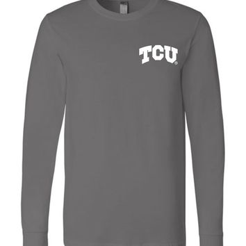 Official NCAA Texas Christian University Horned Frogs TCU Horned Frog FROGS FIGHT! Riff Ram Bah Zoo Long Sleeve T-Shirt - 35TCU-2B