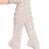 Free People 'Fray' Openwork Knit Over the Knee Socks | Nordstrom