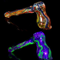 Heady Dichroic Bubbler with UV Glow