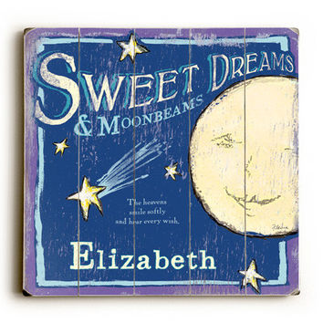 Personalized Baby Sweet Dreams Wood Sign
