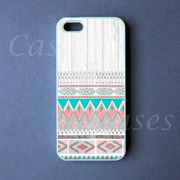 Iphone 5 Case Aztec Wood Iphone Cover, Unique Tribal Iphone 5 Cases
