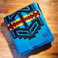 Arapaho Trail Blanket, Turquoise Pendleton ® Indian Blanket