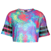 Holograph Crop By Escapology - Jersey Tops - Clothing - Topshop USA